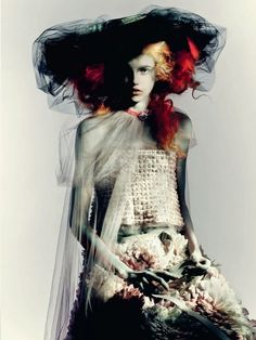 """keroiam: """""""" Molly Blair by Paolo Roversi for Vogue-Italia March 2015 - CHANEL Spring 2015 Haute Couture """" """""""