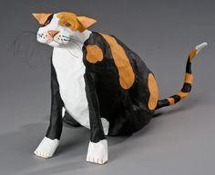 Orange Julius Mâché sculpture | Nancy Winn Papier-Mâché Sculpture.