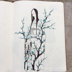 "15.9k Likes, 53 Comments - Ike/さよならの日 (@ikedda) on Instagram: ""Blossom~ #bluepetals"""