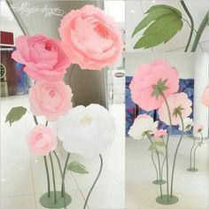 Flori de hartie pentru nunta si botez, buchet mireasa, lumanari, cocarde si marturii, paperflowers