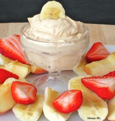 This is my new fab snack, I eat it w apples all the time... Peanut Butter Yogurt Dip is the PERFECT healthy snack! Only 40 calories and deliciously creamy! #snacks #healthy #skinnyms #recipes