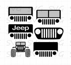 Jeep Bundle svg, dxf, fcm, eps, and png. Jeep Willys, Cj Jeep, Jeep Wrangler, Jeep Tattoo, Jeep Decals, Jeep Stickers, Jeep Grill, Silhouette Cameo Projects, Silhouette Studio
