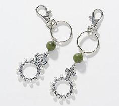 Celtic Pride, Keychain Clip, Connemara, Marble Stones, Key Chains, Qvc, Ring Designs, Faith, Display