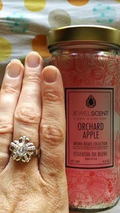 Look at this beauty that was found in Orchard Apple aroma beads! What will you find?          www.jewelscent.com/karynn #jewelscent #jewelry #candle #freering #aromatherapy #graduationgift