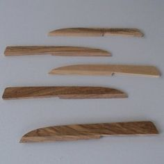Indeco native olive cheese knives
