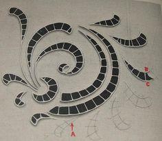 Risultati immagini per cutwork embroidery pattern Cutwork Embroidery, Types Of Embroidery, Embroidery Needles, White Embroidery, Machine Embroidery Designs, Embroidery Patterns, Point Lace, Cut Work, Arte Popular