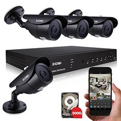 ZOSI Home Security System 8 CH HDMI DVR 4PCS 960H 900TVL 42 IR-Cut 40m IR Night Vision Outdoor Surveillance Waterproof IP66 CCTV Camera Kits with 500G