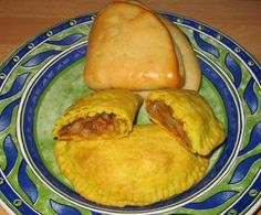 Coco bread and veggie patties.. Mmm Jamaican food