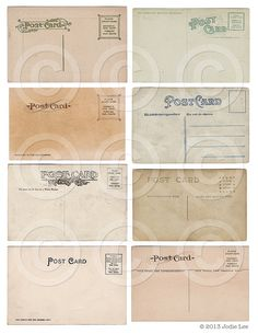 Antique Mini Postcards ATC backgrounds Collage by jodieleedesigns, $3.00