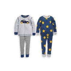 Lot de deux pyjamas voiture et étoile (9 mois à 6 ans) Bleu- Vue 1
