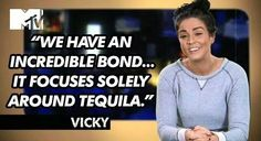inerock: I want Vicky to narrate my life. Tv Quotes, Words Quotes, Best Quotes, Funny Quotes, Gerodie Shore, Vicky Pattison Geordie Shore, Geordie Shore Quotes, Vicky Pattinson, Scotty T