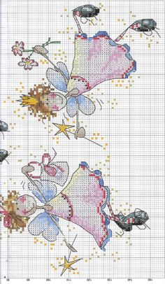 3 Angels of Cross Stitch Fairy, Cross Stitch Angels, Cross Stitch For Kids, Cross Stitch Books, Just Cross Stitch, Counted Cross Stitch Patterns, Cross Stitch Charts, Cross Stitch Designs, Cross Stitch Embroidery