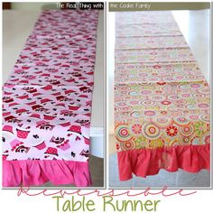 Reversible Valentine/Spring Table Runner Pattern #sewing #pattern