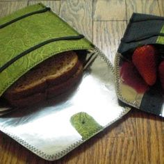 Reusable sandwich bag--I like the design; the elastic bands for closure rather than a snap.