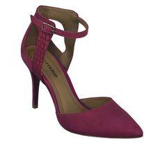 Scarpin framboesa em couro nobuck | Sapatos | Bottero Calçados
