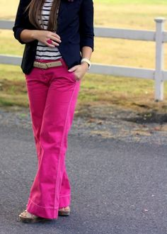 25 DIY Fall Clothing Trends.... WHERE CAN I FIND WIDE LEG BRIGHT PINK PANTS???!!!