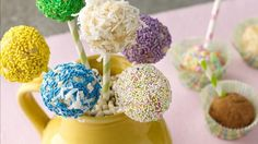 Try these delicious and flavorful tropical cake pops for dessert.