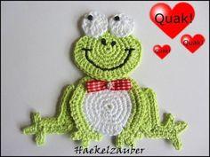 ❤ ♥   Aplique de Crochê em  Sapo -  /   ❤ ♥   Apply at Crochet in  Frog -