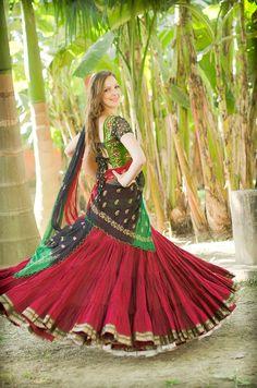 Rani Collection - Indian Parrot - Gopi Skirts | Gopi Skirts