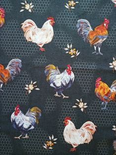 This listing is for one metre of fabric. From the collection Bon Appetit by Whistler Studios for Windham Fabrics. cotton fabric has been preshrunk. Windham Fabrics, Rose Cottage, Bon Appetit, Rooster, Cotton Fabric, My Etsy Shop, Quilts, Check, Handmade