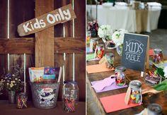 Hochzeitsdekore maritim 8 Fun Ideas for Kids at Weddings Kids Table Wedding, Wedding Reception Activities, Kids Wedding Activities, Wedding Table Settings, Wedding With Kids, Our Wedding, Wedding Ideas, Wedding Tables, Reception Ideas