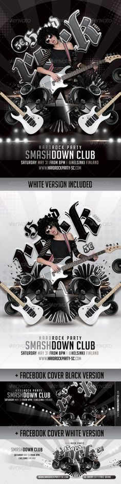 Realistic Graphic DOWNLOAD (.ai, .psd) :: http://hardcast.de/pinterest-itmid-1007845699i.html ... Bundle Flyers+ FB Covers Hard Rock Party In Club ...  abstract, black, class, classy, club, cover, facebook, female, flyer, guitar, hard, mic, model, modern, music, party, professional, smart, sound, speaker, star, volume, white, woofer  ... Realistic Photo Graphic Print Obejct Business Web Elements Illustration Design Templates ... DOWNLOAD :: http://hardcast.de/pinterest-itmid-1007845699i.html