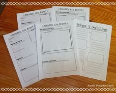 Aussie Pumpkin Patch: Free Science Notebooking Pages