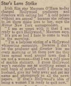 the declaration of sentiments written in the declaration of  maureen o hara s 1945 quotes about being sexually harassed in hollywood she s a bad ass