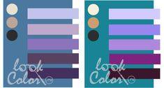 сочетание серо синего и сине зеленого с фиолетовым