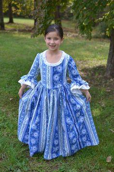 Custom Girls Colonial Dress sizes 3T-8 by EmilyandIzzy on Etsy