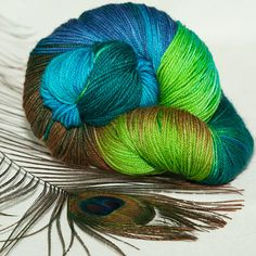 Peacock colours garn online ohh my ohh my