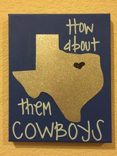 Dallas Cowboys Canvas Wall Art by CanvasGlitterLady on Etsy