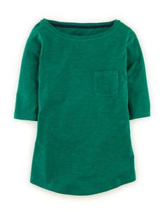 Lightweight Boatneck shirt at Boden - comes in many colors