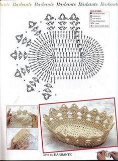 Christmas Crochet Patterns Part 2 - Beautiful Crochet Patterns and Knitting Patterns Chat Crochet, Crochet Bowl, Free Crochet, Crochet Diagram, Crochet Motif, Crochet Doilies, Crochet Designs, Doily Patterns, Knitting Patterns