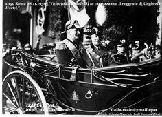 Vittorio Emanuele III con il Reggente Horty dell'Ungheria a Roma, 8.11.1936. L'ammiraglio Horty fu l'ultimo Comandante in Capo della Marina Austro-Ungarica. Nel 1920 il governo Ungherese proclamò la Restaurazione della Monarchia, ma Carlo I non potè mai rientrre nel paers ed allora Horty fu il suo Reggente, e la Ungheria divenne una Monarchia senza Re, fin al 1940.