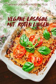 Ich liebe dieses Rezept für eine leichte Lasagne mit Zucchini und roten Linsen vor allem im Sommer. Sie eigenet sich perfekt für Mittags oder auch Abends, da sie durch die Zucchinistreifen sehr leicht ist und angenehm sättigt, ohne zu beschweren. Perfekt für Familien! #veganesessen #veganerezepte #veganfürdieganzefamilie