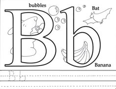 """Free Preschool Printables. The letter """"B"""". Practice writing the letter below."""