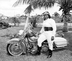 """The great Harley long distance rider of the '30's & '40's... Bessie Stringfield in a great old kidney belt. """"They really help with back fatigue and keepin' your insides from being shakin' like crazy while riding for long srtetches."""""""