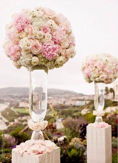 Decoración de bodas en rosa www.webnovias.com/blog