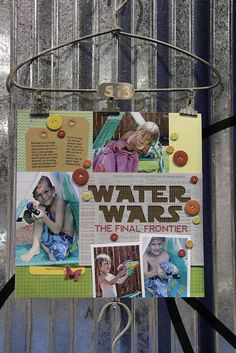 #papercraft #scrapbook #layouts water wars