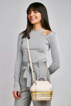 Lookbook with María Bernad wearing onesixone by Vicky Uslé. Lookbook con María Bernad llevando one six one diseñado por Vicky Uslé #onesixonebag Grey Outfit