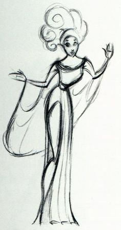 disney concept sketches | Hercules' Muse Concept Sketch