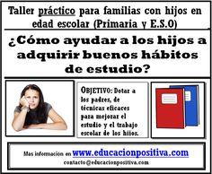 Helping children in their studies.Parent Workshop Ayudar a los hijos con los estudios. Taller para familias.