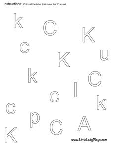 Color In The Letters That Match The Uppercase Letter Great For