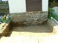 We Show The Way We Construct Steps Using Wall Stones With Photos & Descriptions - Newtown Square PA from Robert J. Front Porch Steps, Back Steps, Patio Stairs, Backyard Patio, Yard Grading, Steps Design, Newtown Square, Delaware County, Chester County