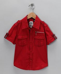 LR Scoop.  LR Scoop Red Button-Up.  Button-up for fall!  #zulily #fall