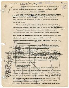 Aldous Huxley's manuscript for Island, his last novel.