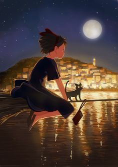 Image about art in studio ghibli by anime freak Kiki Delivery, Kiki's Delivery Service, Studio Ghibli Art, Studio Ghibli Movies, Pom Poko, Grave Of The Fireflies, Secret World Of Arrietty, Japanese Animated Movies, Castle In The Sky