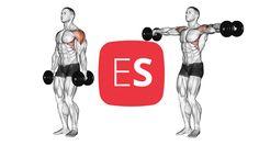 Πλευρικές άρσεις για ώμους με αλτήρες Stay Fit, Fitness, Keep Fit, Gymnastics, Rogue Fitness, Popsugar