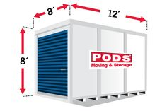 Compare our & steel-framed storage containers to find the PODS container size that's right for your moving or storage needs. Pods Moving And Storage, Storage Pods, Moving House Tips, Moving Tips, Storage Unit Sizes, Moving Containers, Packing To Move, Amber Alert, Container Size